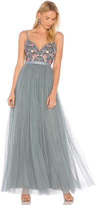Needle & Thread Whisper Maxi Dress in Gray $369 thestylecure.com