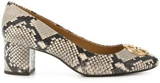Tory Burch python printed pumps