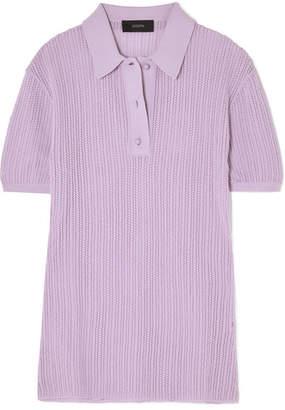 Joseph Pointelle-knit Top - Lilac