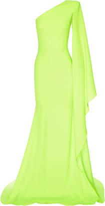 Alex Perry Aurelie One-Shoulder Satin Crepe Gown