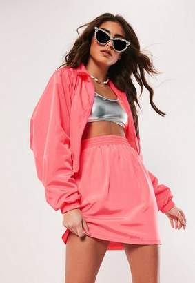Missguided Neon Pink Co Ord Skirt