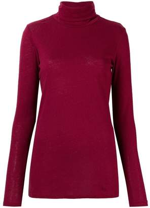 Majestic Filatures turtleneck fitted top