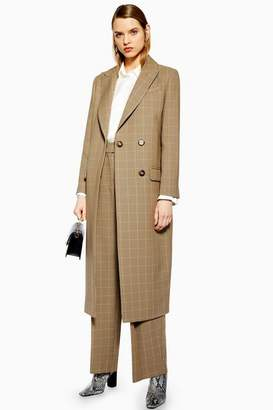 Topshop Womens Tailored Check Coat