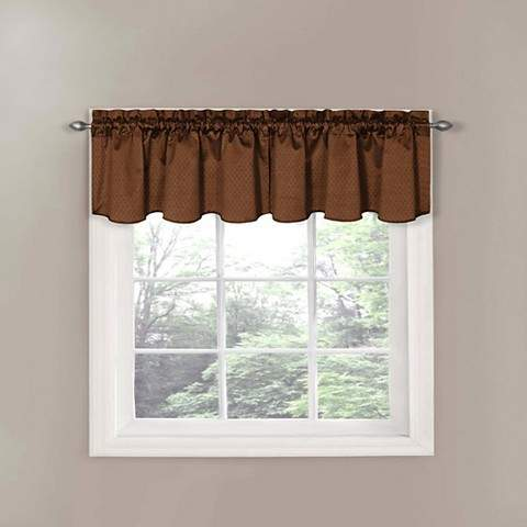Thermaback Canova Blackout Window Valance - Chocolate (42