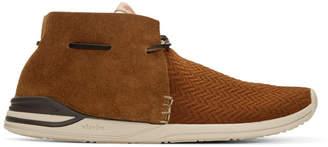 Visvim Brown Huron Mesh Moc-Folk Sneakers