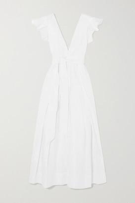 Kalita Poet By The Sea Ruffled Cotton-poplin Maxi Dress - White