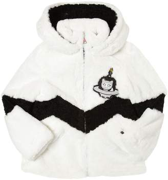 Karl Lagerfeld Hooded Faux Fur Jacket