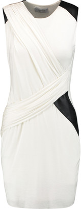 Bailey 44 Faux leather-trimmed stretch-jersey mini dress $196 thestylecure.com