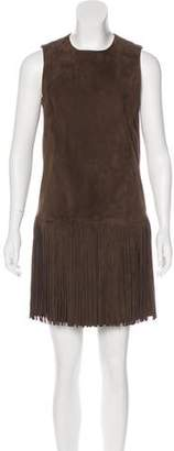 Yves Salomon Suede Shift Dress w/ Tags
