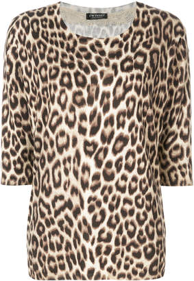 Twin-Set leopard pattern knitted blouse