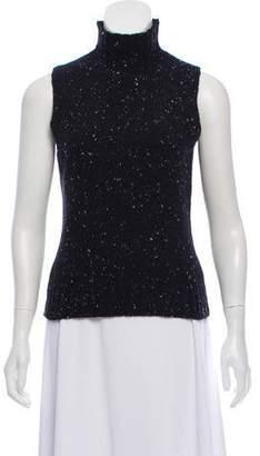 d6f9d7405dda6e Black Sleeveless Cashmere Turtleneck - ShopStyle