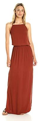 Monrow Women's Square Neck Maxi Dress