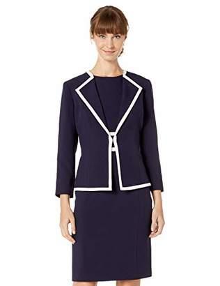 Le Suit Women's Piped Crepe Dress Suit