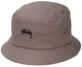 Stussy logo embroidered bucket hat dc395584da69