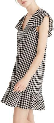 Madewell Ruffle Gingham Shift Dress