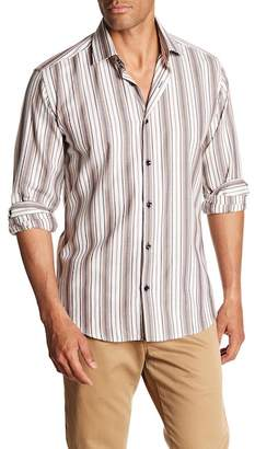Jared Lang Patterned Woven Shirt
