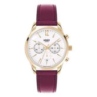 Henry London - Ladies 39Mm Holborn Chronograph Leather Watch