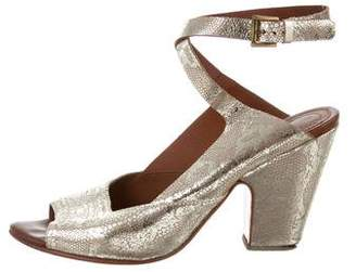 Rachel Comey Metallic Ankle Strap Sandals
