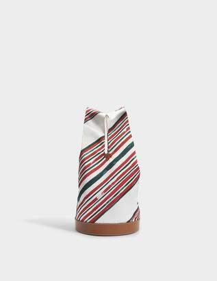 Carven Bucket Bag Hand Carry in Espelette Calfskin