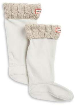 Hunter Cable-Knit Cuff Welly Socks