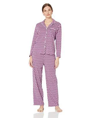 Karen Neuburger Women's Pajama Long Sleeve Animal Print Girlfriend Pj Set