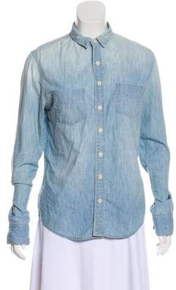 J Brand Chambray Button-Up Top