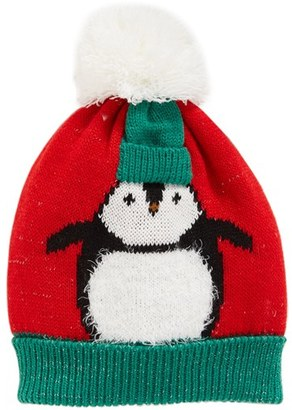 Women's Collection Xiix Chilly Penguin Pom Beanie - Red $24 thestylecure.com