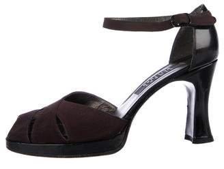 Stuart Weitzman Cutout Ankle-Strap Sandals