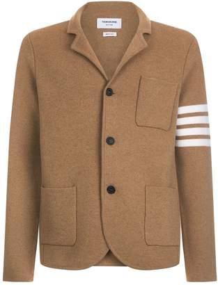 Thom Browne Camel Stripe Sleeve Cardigan