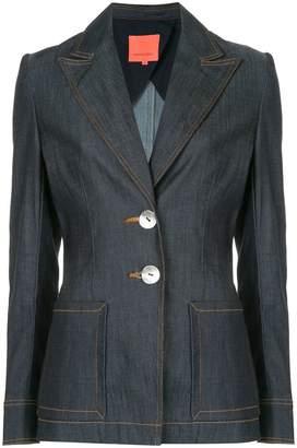 Manning Cartell contrast stitch denim blazer