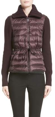 Moncler Quilted Down Front Cardigan