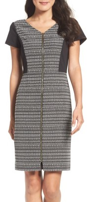 Women's Ellen Tracy Tweed & Ponte Sheath Dress $128 thestylecure.com