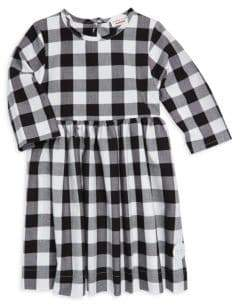 Buffalo David Bitton Smiling Button Little Girl's Check Winnie Cotton Dress