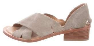 Alberto Fermani Suede Crossover Strap Sandals