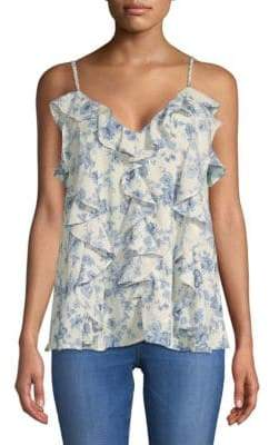 Moon River Ruffled Floral Camisole