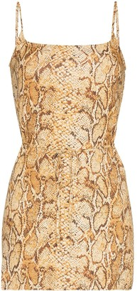Reformation Vivette snake print mini dress