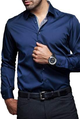 Gianfranco Ferre Au Noir Slim Modern Fit Shirt