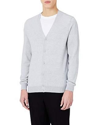 MERAKI Men's Lightweight Cotton V-Neck Cardigan,(Size: Large)