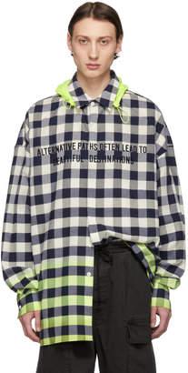 Juun.J Multicolor Checkered Shirt