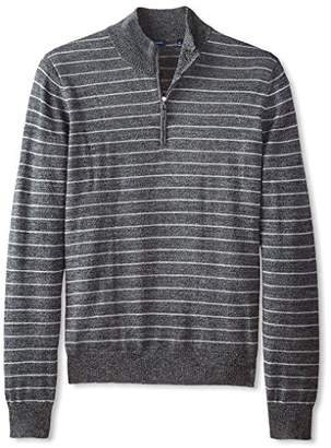 Thirty Five Kent Men's Merino Striped Quarter Zip