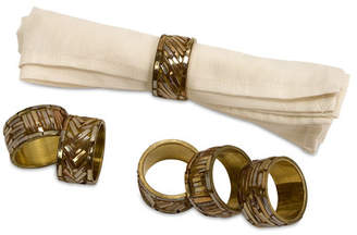 World Menagerie Gold Brass Napkin Rings