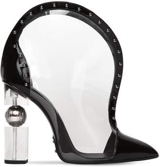 Balmain 110mm Patent Leather & Pvc Boots