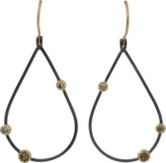 Todd Reed Openwork Teardrop Diamond Earrings