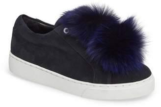 Here \u002F Now T Genuine Fox Fur Slip-On Sneaker (Women)