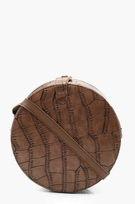 eb9282168 boohoo Croc Structured Round Cross Body Bag