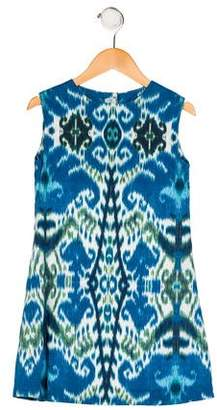 Papo d'Anjo Girls' Printed Shift Dress