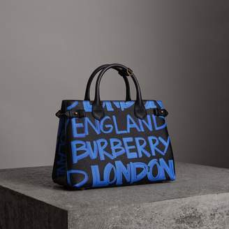 Burberry The Medium Banner in Graffiti Print Leather