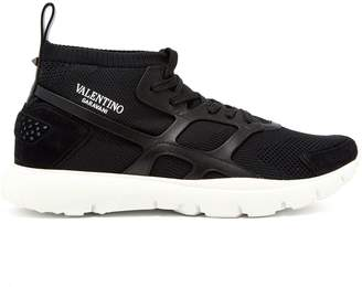 Valentino Sound High knitted trainers