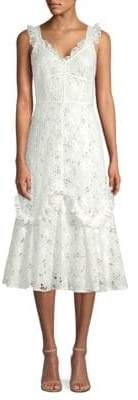 Rebecca Taylor Adriana Eyelet Cotton Dress