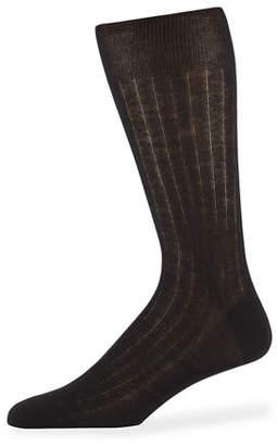 Neiman Marcus Men's Mid-Calf Cashmere Dress Socks